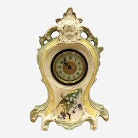 Antique Ansonia Royal Bonn Shelf Clock - Working Condition