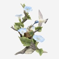 Boehm Blue-Throated Hummingbirds with Morning Glories 40476 LTD ED 297 of  750
