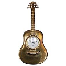 Ewatch Quartz Gold-tone Guitar Clock