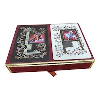 Double Deck Monogram L & A Playing Cards with Case by Congress