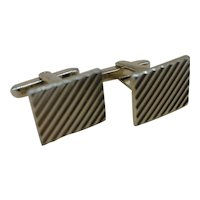 Vintage Hickok Gold-tone Rectangular Cufflinks Made in the USA