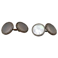 Vintage Krementz Gold Filled Mother Of Pearl MOP Cufflinks and 2 Stud Button