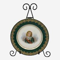 Antique Sévres Imperial Hand Painted Portrait Plate of Roi de Rome