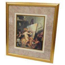 Vintage Framed Print of Putto's 18x20