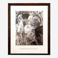 "Norman Rockwell Limited Edition Lithograph ""Freedom of Worship"" FREE SHIPPING!"