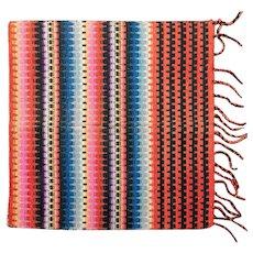 Native American Navajo Hand-Woven Small Wal or Area Woolen Rug, Circa 1800S