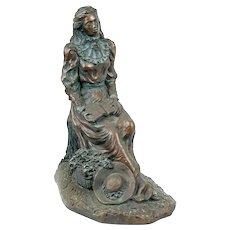 """Rare 21"""" Alice Heath AUSTIN PRODUCTIONS Cast Durastone Woman Sculpture"""
