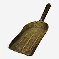 Antique Victorian Brass Coal Shovel