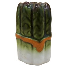 Vintage Ceramic Hand-Painted Asparagus Salt or Pepper Shaker Made in Italy