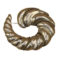 .925 Silver Shell-shaped Brooch Made in Mexico