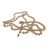 Vintage Faux Pearl Necklace w/ Beautiful Clip