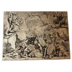 "Bartolomeo Pinelli Engraving from the Book ""Historia Romana"" c. 1819"
