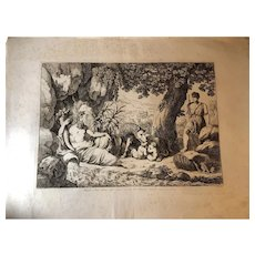 "Bartolomeo Pinelli Engraving from the Book ""Historia Romana"" c. 1816"