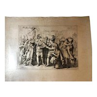"Bartolomeo Pinelli Engraving from the Book ""Historia Romana"" c. 1818"