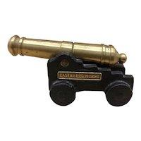 """Vintage Miniature Firing Brass Cannon w/ Iron Carriage """"Castillo del Morro"""""""