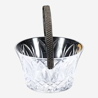 Atlantis Small Crystal Basket with Silver-plated Removable Handle