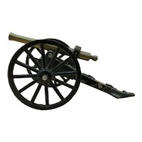 Vintage Miniature Cast Iron Display Cannon Made in Japan