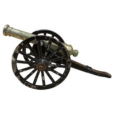 Vintage Miniature Cast Iron Cannon - Made in Japan
