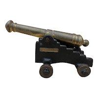 "Vintage Cast Iron / Brass Miniature Display Cannon ""St. Augustine, Florida"""