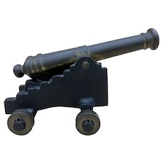 Vintage Cast Iron / Brass Miniature Display Cannon