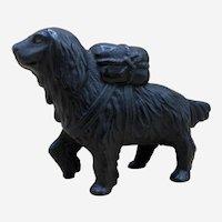 Antique Cast Iron St Bernard Dog Still Bank