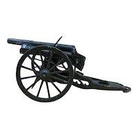 Vintage Cast Iron WWII Miniature Japanese Artillery Cannon