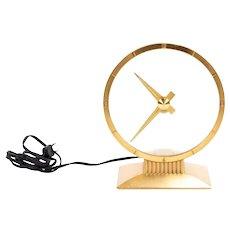 "Vintage Jefferson Golden Hour Electric Mystery Clock 9"""