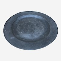 Antique British Pewter Plate by Henry Little of London Mid 18th C.