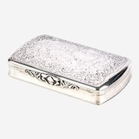 Vintage Hand Chased Sterling Silver Box