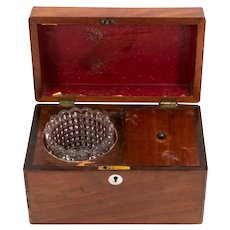 Antique 19th Century Mahogany Tea Caddy