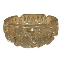 Vintage Crystal Glass Ashtray for Business Or Personal Use