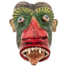 Authentic Vintage Wood Cultural Mask Magical Mask - RARE