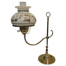 Vintage Brass Adjustable Arm Student Lamp