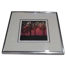 "Vintage Robert Ehrlich & Linda Sacco Signed Limited Edition Serigraph/Silkscreen, Entitled ""Sunset"""