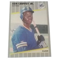 Hard-to-Find 1989 Ken Griffey Jr. No. 548 Fleer Rookie Baseball Card