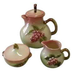 Vintage Hull Pottery Company Tokay Tea Set, Made Circa 1958