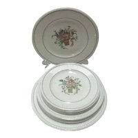 "9 Wedgwood (of Etruria, Staffordshire, England) Ceramic Plates, in Circa 1920s ""Belmar"" Pattern"