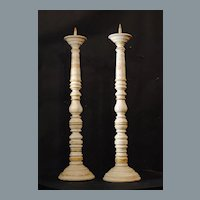19th century Pine Candlesticks