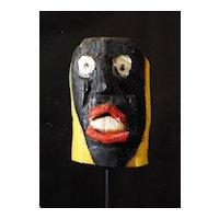 Folk Art Face Sculpture