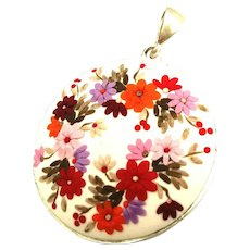 Colorful Necklace, handmade jewelry, flowers Necklace