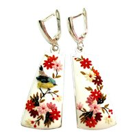 Colorful Sterling silver earrings