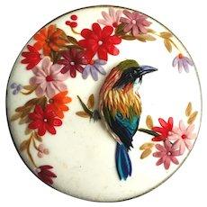 Handmade brooch bird&flowers