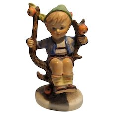 Vintage Hummel Figurine, Boy in Apple Tree #142, Full Bee