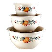 3 Corning Correlle Adundance Mixing Bowls