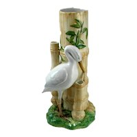 Abigail's Ceramic Crane & Bamboo Vase