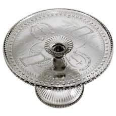 "Adams & Company 1891 EAPG Good Luck-Horseshoe 10"" Cake Stand"