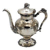 Barbour International Silver Hand Chased Coffee Pot #5336