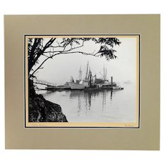 WH Ballard Misty Harbor Maine Photograph