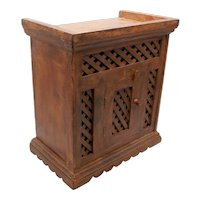 Rustic Indonesian Wooden Tabletop Cabinet