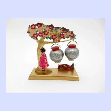 Geisha Under a Cherry Tree Salt & Pepper Shakers